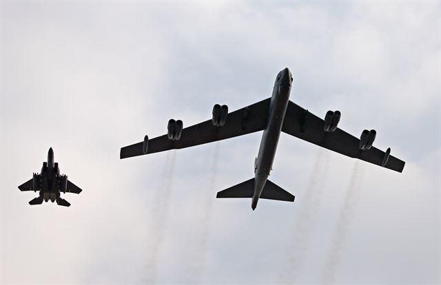 핵미사일 탑재 'B-52' 폭격기, 北핵실험 나흘만에 한반도 전개