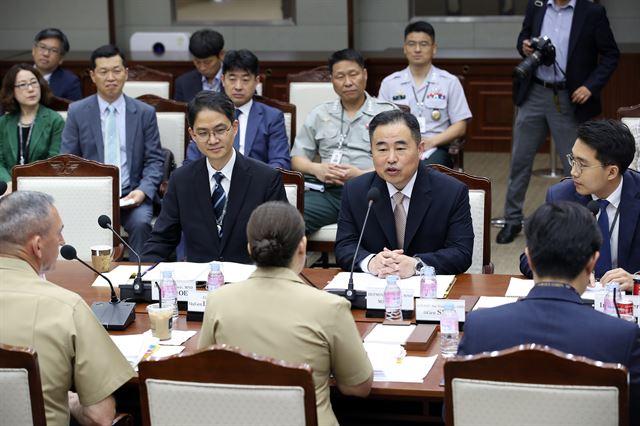 """남한 군사 당국 압박 높이는 북한… """"외세와 짝짜꿍하며 군사 대결"""""""