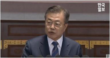 문대통령, 능라도 경기장 연설