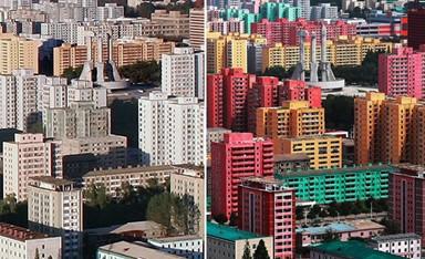 잿빛 도시는 옛말... 사람 사는 도시, 평양의...