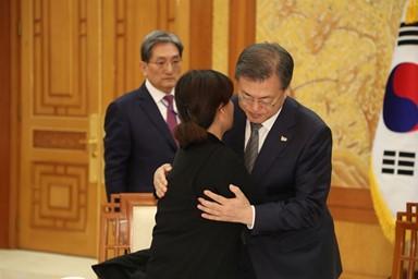 고 김용균씨 유족 만난 대통령