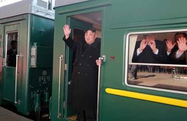 김정은, 전용열차로 하노이행