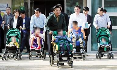 황교안, 장애아동과 함께한 하루
