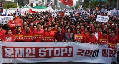 한국당, 대규모 장외집회