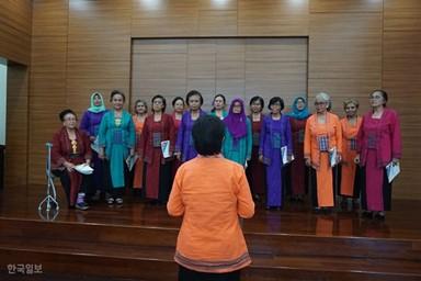 '임을 위한 행진곡' 부른 인도네시아 디알리타 합창단