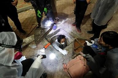 전쟁터 방불케 한 홍콩시위 현장