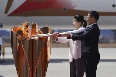 일본 도착한 도쿄올림픽 '성화'