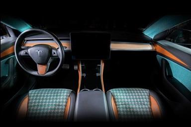 빌너, 독특한 대비가 돋보이는 테슬라 모델 3 인테리어 패키지 공개