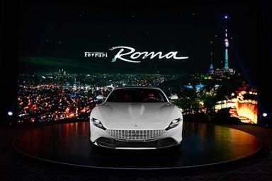 페라리, 유려한 디자인의 2+ 패스트백 쿠페 '페라리 로마' 아시아 지역 최초 공개