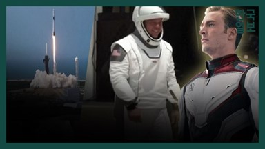 어벤저스 디자이너의 우주복을 입고... 첫 '민간 유인우주선' 도킹 순간