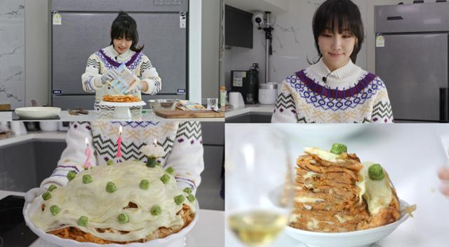 '편 식당'이유리, 김치 크레페 케이크 챌린지