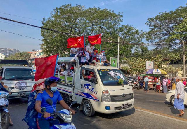 미 쿠데타에 대한 제재에도 … 미얀마의 군사력 강화