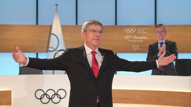 """바흐 IOC 회장 재임""""도쿄 올림픽 개최는 의심의 여지가 없다"""""""