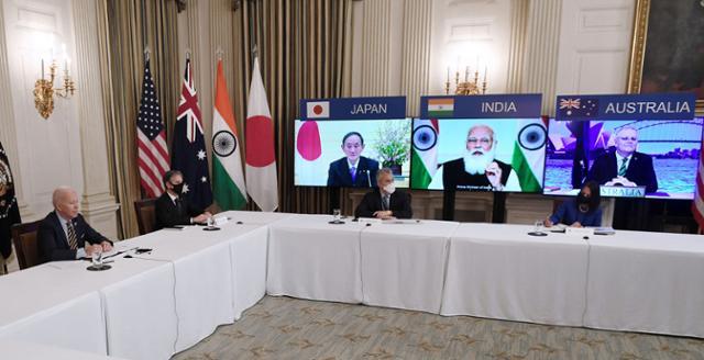 역사상 최초의 '쿼드'정상 회담 … '자유롭고 열린 인도-태평양'실현
