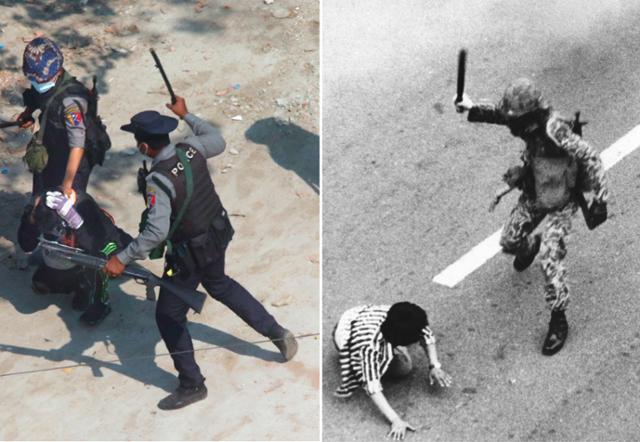 미얀마에서 재현 한 '5 · 18'의 비극 … 결정적 장면